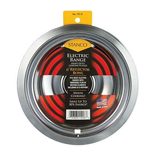 "STANCO METAL PROD 6"" Chrome reflector bowl, fits"