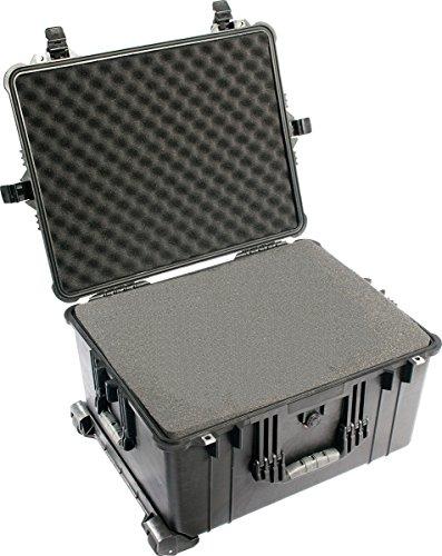 PELI 1620 Professioneller Kamerakoffer, IP67 Wasser- und Staubdicht, 72L Volumen, Hergestellt in Deutschland, Mit Schaumstoffeinlage (Anpassbar), Schwarz