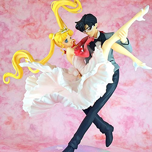 Yvonnezhang Figuarts Zero Chouette Sailor Moon & Chiba Mamoru Masquerade Masked Ball Figure Model Toys
