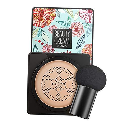freneci 20g Make Up BB Cream Makel Cover Liquid Concealer mit Pilzschwamm - Natürliche Farbe