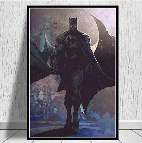 wqmdeshop Batman Justice League Joker DC Comics Superman Poster Impresiones En Lienzo Pintura Al Óleo Imágenes De Arte De Pared para Sala De Estar Decoración para El Hogar 40X50 Cm