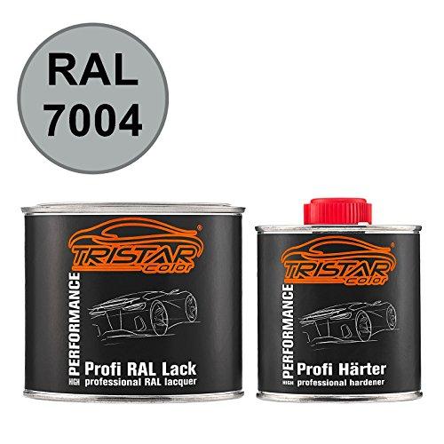 TRISTARcolor RAL 7004 Signalgrau 2K Autolack glänzend 0,75 Liter / 750 ml Dose inkl. Härter