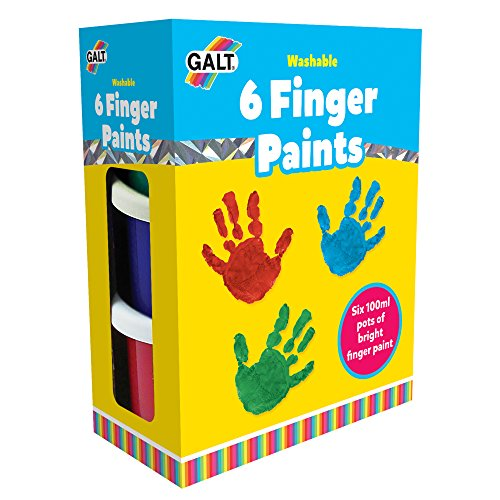 Galt Toys, 6 Finger Paints Washable, Finger Paints For Toddlers, Ages 2 Years Plus