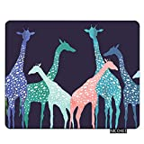 Nicokee Giraffe Gaming Mousepad Art Giraffe Group Blue Mouse Pad Rectangle Mouse Mat for Computer Desk Laptop Office 9.5 X 7.9 Inch Non-Slip Rubber