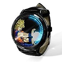 新品 LED皮带手表 龙珠时尚休闲皮革手表人气皮带耐久手表手表超薄pu皮时尚生活防水中性礼物 手表表盘-A