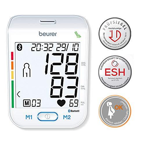 Beurer BM 77 Bluetooth bloeddrukmeter voor de bovenarm, met gepatenteerde rustindicator, ook geschikt voor zwangere vrouwen