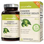 NatureWise Green Coffee Bean Extract 800 with GCA Natural Weight Loss Supplement, 60 Caps - Packaging May Vary