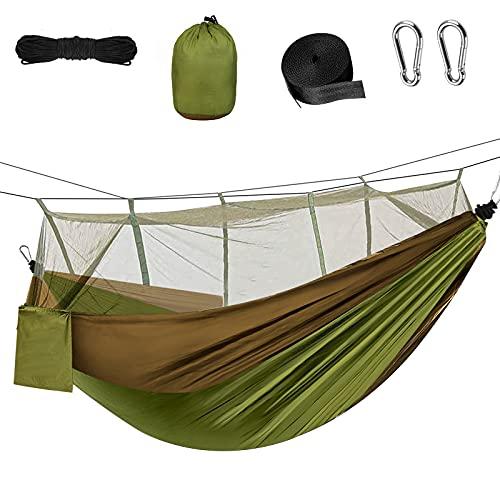 Etmury Hängematte Outdoor Ultraleicht,Hängematte mit Moskito Netz, 300kg Tragfähigkeit, Atmungsaktiv, schnell trocknende Fallschirm Nylon für Outdoor Backpacker Camping Garten und Reisen