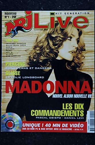 NRJ LIVE 1 MADONNA cover + 8 PAGES VANESSA PARADIS EMINEM ALIZEE + CD 2000 11