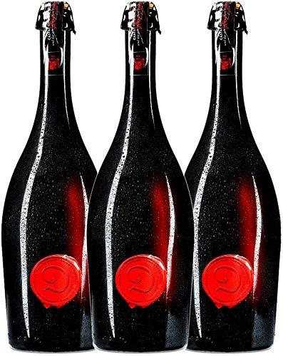 3er Paket - Marsecco Red Frizzante - Castle of Dracula   lieblicher Perlwein   italienischer Frizzante aus Venetien   3 x 0,75 Liter