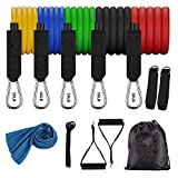 HYH Resistance Band (12 Pieces), Resistance Training, Resistance Band for Leg and Ankle Training, Portable Fitness Accessories, Physical Therapy, Fitness Essentials