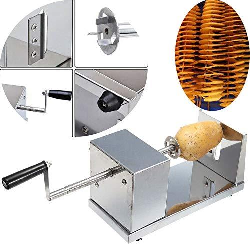 Edelstahl Spiral Kartoffelschneider manuelle Schneidemaschine für Kartoffeln, Karotten, Gurken