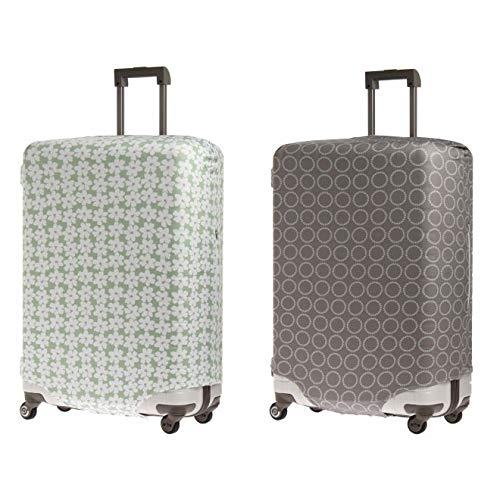 &P スーツケース/キャリーケースカバー NV1874(サイズはありません オ:グレー(サークル))