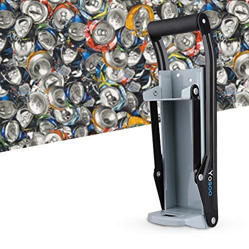 Fdit Trituradora de latas de metal de 16 oz Smasher Smasher montado en la pared Trituradoras Latas de refrescos Latas de cerveza y botellas para reciclaje