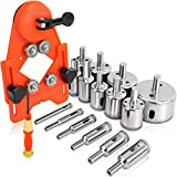 Rokrou Diamond Drill Bit Tile Hole Saw Set 15 PCS Diamond Hole Saw Kit with Drill Guide from 4mm-83mm for Ceramic,Glass,Porcelain,Marble
