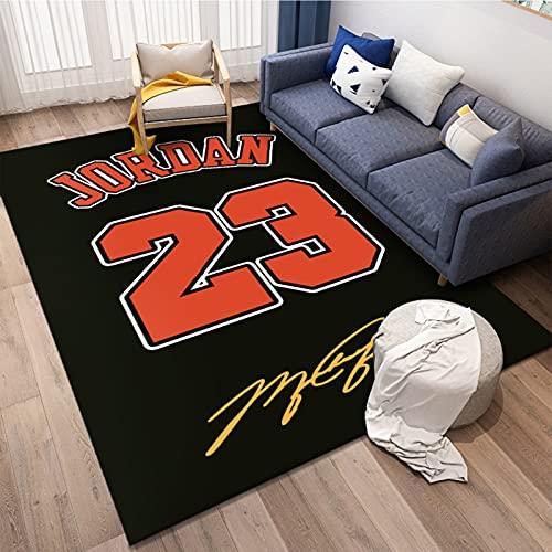 23# Jordan Basketball Tapis de sol antidérapant pour chambre à coucher de bébé et garçons, en fibre de polyester Mamba Tapis de yoga 60 x 90 cm