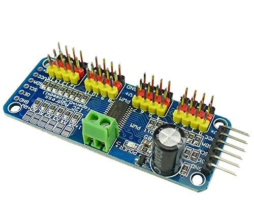 KKHMF PCA9685 16チャンネル 12-ビット PWM Servo モーター ドライバー IIC モジュール Arduinoに対応 ロボット