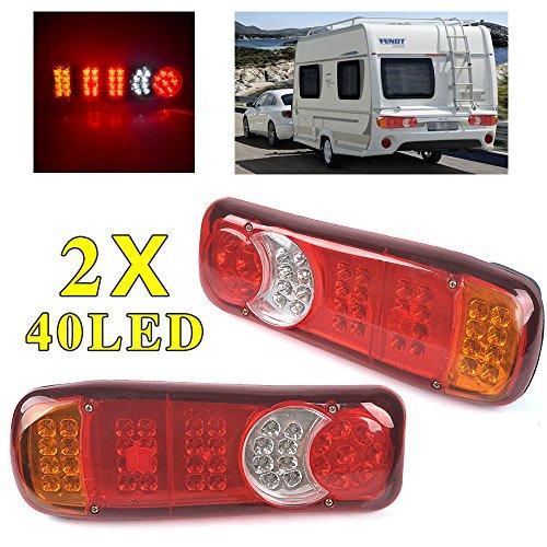 2 pièces Feux Arrière 40 LED Restauration Stop Indicateur Lumières 12 V Pour Camion Châssis Camion Remorque Caravane