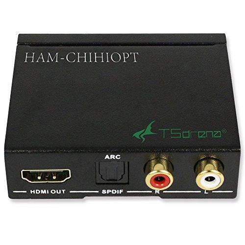 {TSdrena HDMIデジタルオーディオ分離器[HDMI→光デジタル音声/アナログ音声(3.5mmステレオ)] HAM-CHIHIOPT}