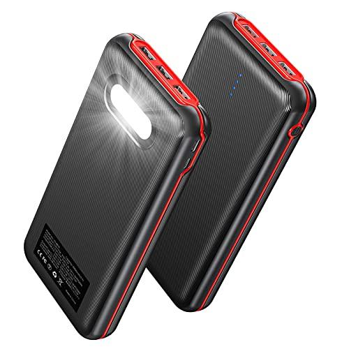 Power Bank 30000mAh, 22.5W QC 3.0 & 20W PD Schnelles Aufladen USB C Externer Akku mit 4 Ausgängen und 2 Eingängen Tragbares Ladegerät Kompatibel mit MacBook Pro Dell XPS iPhone12 und mehr