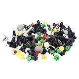 200 Piezas de Clips Retención de Coche Kit de Sujetadores de Plástico, Juego de Remaches Pasadores de Empuje Automático para Molduras de Puerta de Coche, Kit de Pasadores de Remache de Retenci