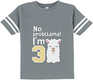 Gift for 3 Year Old Girl No Probllama 3rd Birthday Toddler Jersey T-Shirt