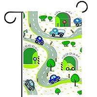 庭の装飾の屋外の印の庭の旗の飾り道のシームレスパターンの車 テラスの鉢植えのデッキのため