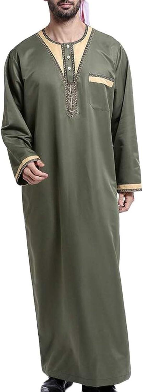 GenericMen Thobe Thoub Abaya Robe Dishdasha Islamic Arab Kaftan