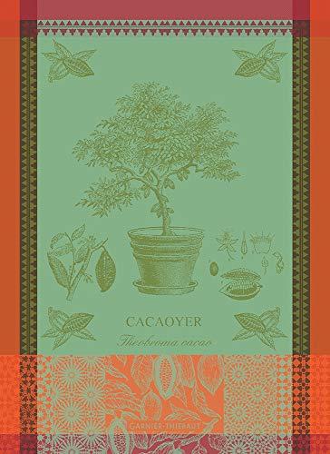 Garnier-Thiebaut Cacaoyer En Pot Vert (Cacao en Maceta Verde) Toalla de Cocina de algodón francés