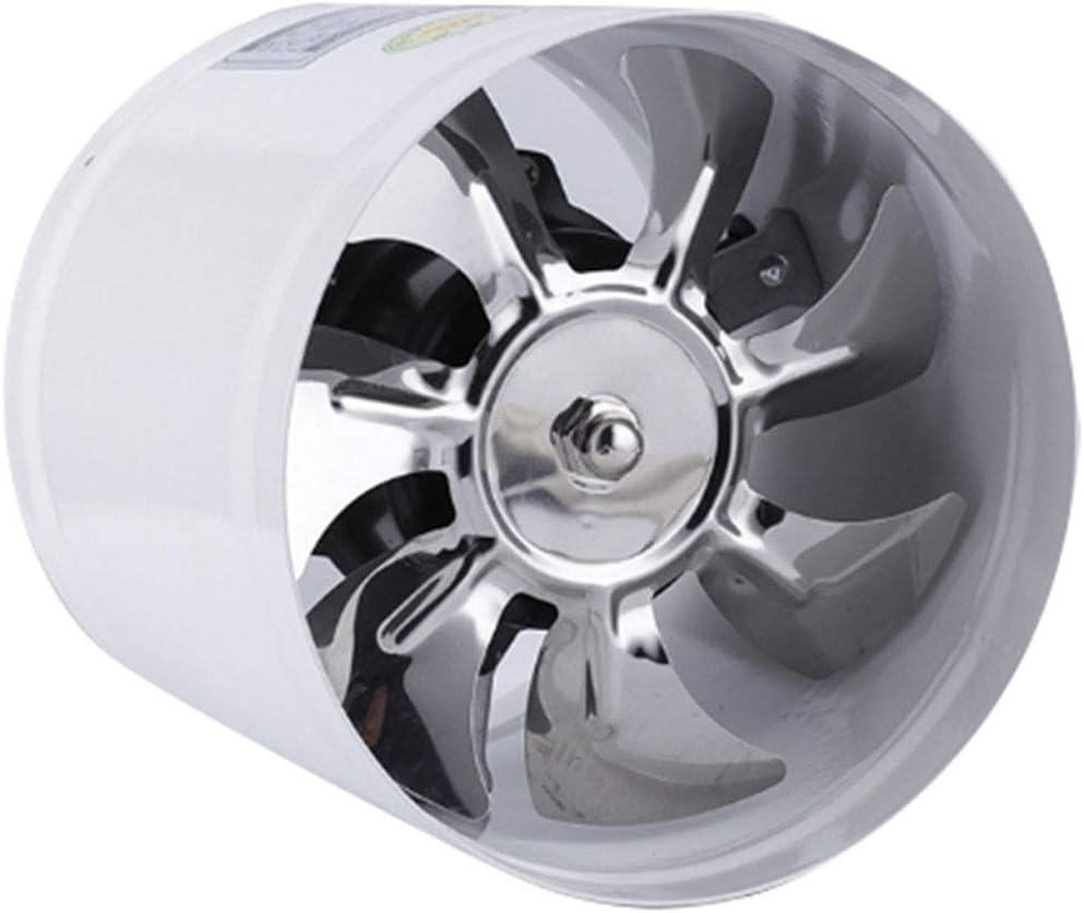 Yousiju Ventilador de conducto en línea en pulgadas Ventilador de aire Ventilación de tubería de metal Ventilador de escape Mini extractor Baño Inodoro Ventilador de pared Acceso del ventilador de con