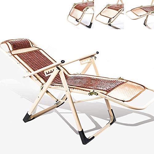 KAISIMYS Garten-Entspannungsliege mit gepolstertem Schaukelstuhl Verstellbare Lounge-Liege Klappbare Entspannungsliege Klappbare Sonnenliege Strand-Entspannungsliege für Gartenbalkon-Terrasse Gewicht
