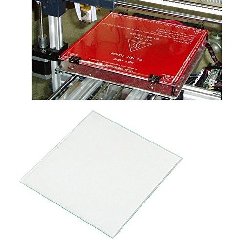 LEADSTAR 3D-printer glasplaat glasplaat glasplaat verwarmd printbed glas borosilicaatglas voor heatbed MK2 MK3, 213 x 200 x 3 mm (glasplaat)