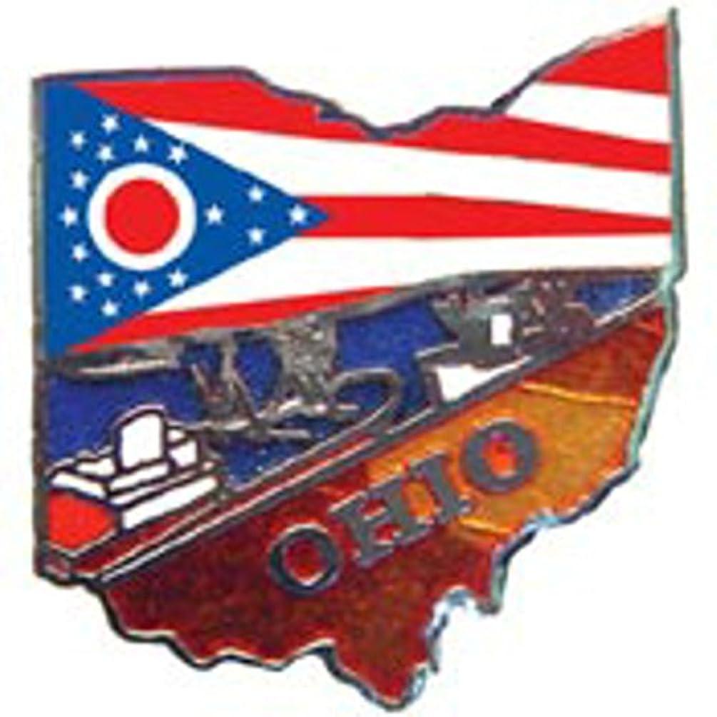 EagleEmblems P09236 PIN-Ohio (MAP) (1'')