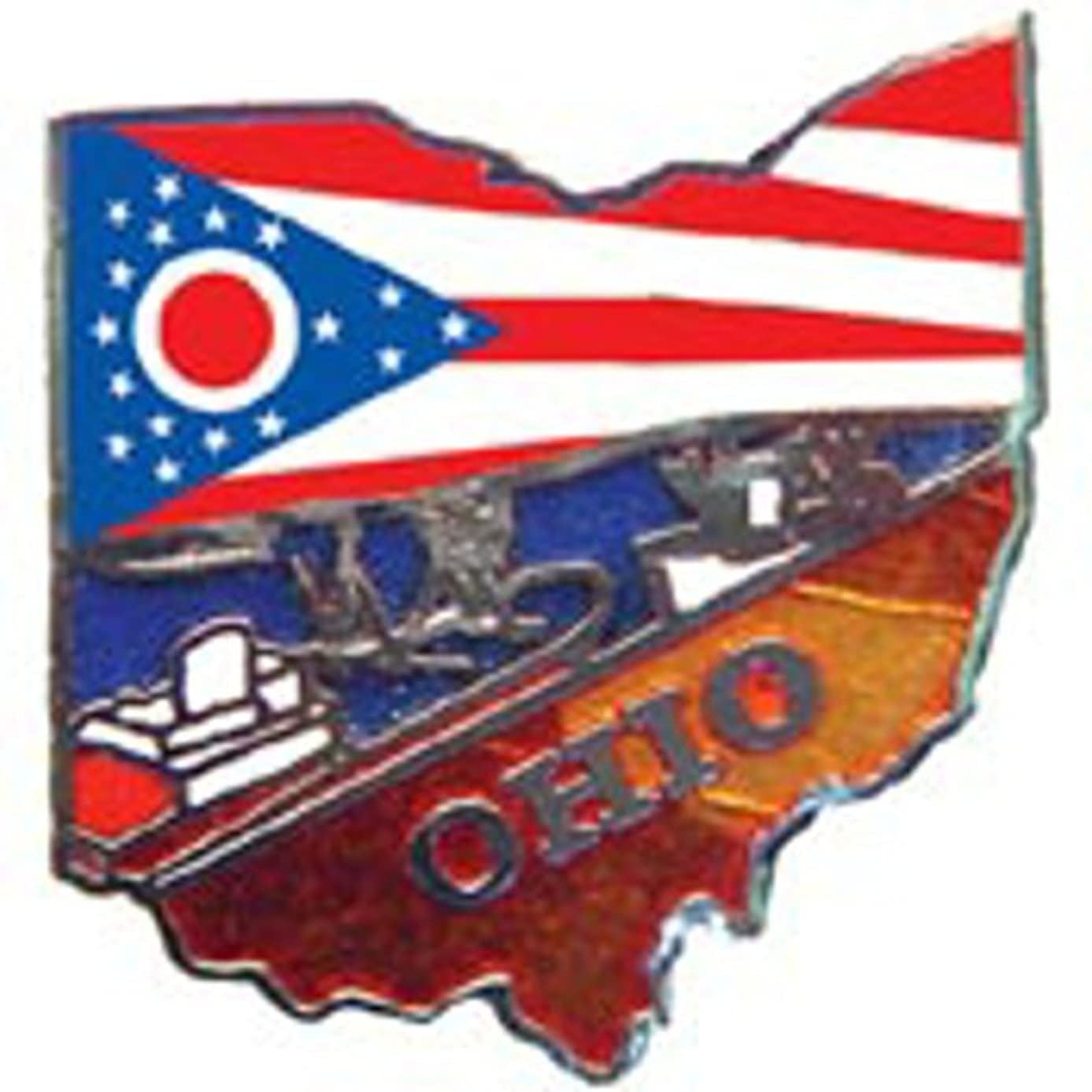 EagleEmblems P09236 PIN-Ohio (MAP) (1'') taer8718884