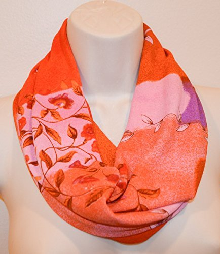 Infinity Scarf Chiffon Sunflower Design Unisex Fashion Loop Scarves