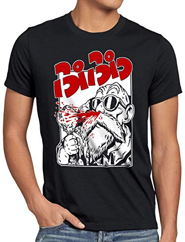 style3 Roshi Hemorragia Nasal Camiseta para Hombre T-Shirt Turtle Ball z Songoku, Talla:5XL