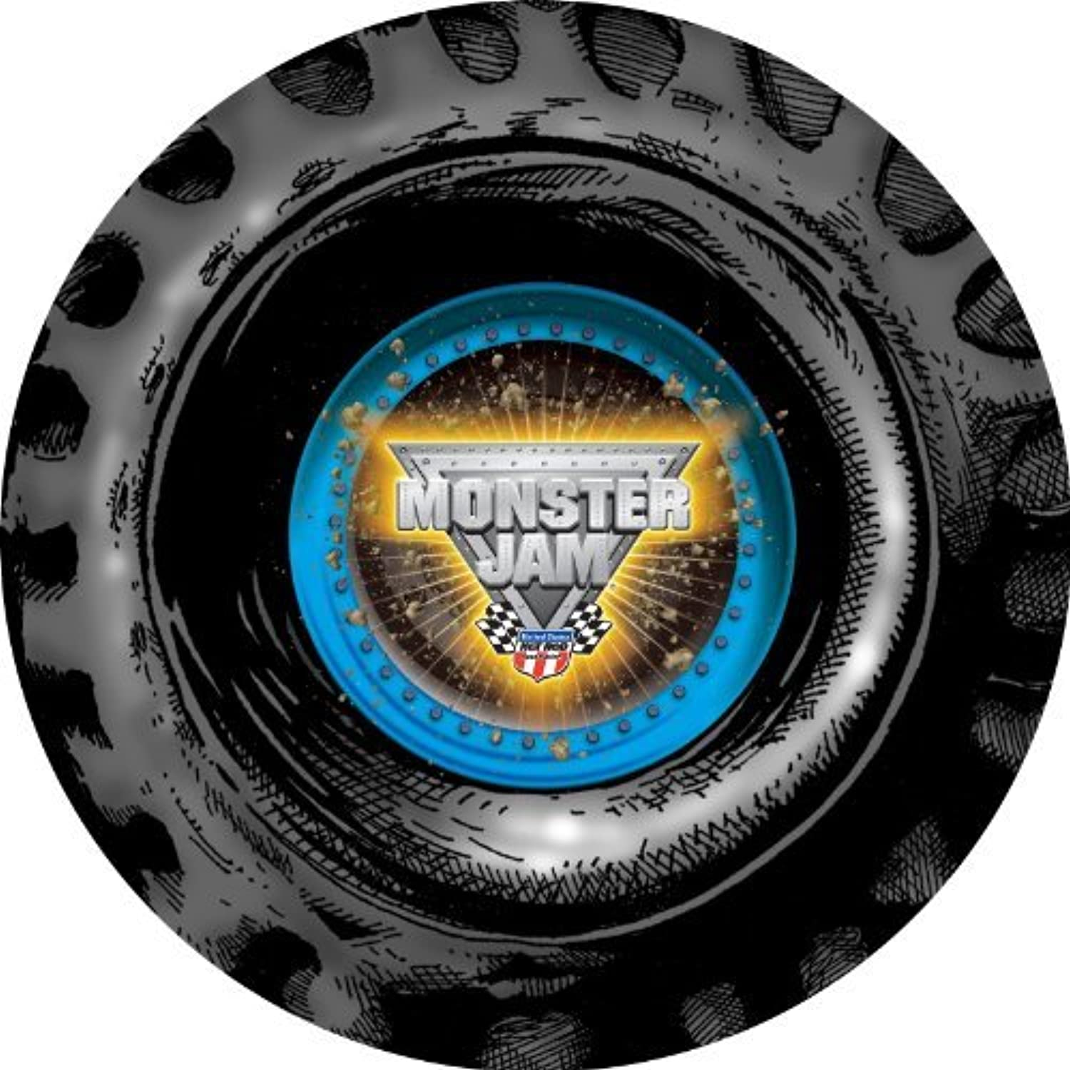Monster Jam Party Supplies - Round Activity Placemats (4) by BirthdayExpress