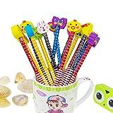 Set matita del fumetto, Attiant 40 Pcs matita in legno con gomma matite grafite colorate con gomme, Materiale Scolastico Regalo dei Bambini, for festa di compleanno bambini party Festival