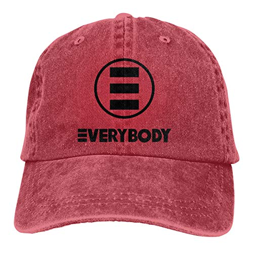 Smooffly Unisex Logic Everybody Baseball Caps Washed Dyed Dad Hats Adjustable Red