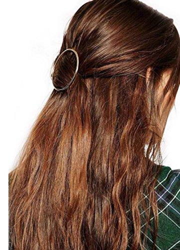 GuDeKe Minimalist Dainty Gold Hohl Runde Metall Haarspange Haarnadel Haarklemme Kopfschmuck Kopfschmuck Schmuck