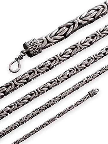 Königskette Panzerkette 925 Echt Silber 3,2-10 mm Stärke | Halskette Armband 18-74 cm, Längen:ca. 53.0 cm, Stärke:10 mm