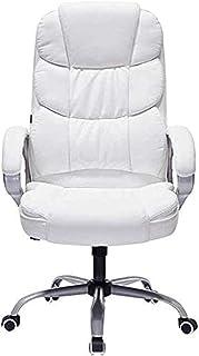 MHIBAX Chaise de jeu Chaise de travail pivotante Chaise de bureau inclinable blanche Chaise de bureau d'ordinateur Chaise ...