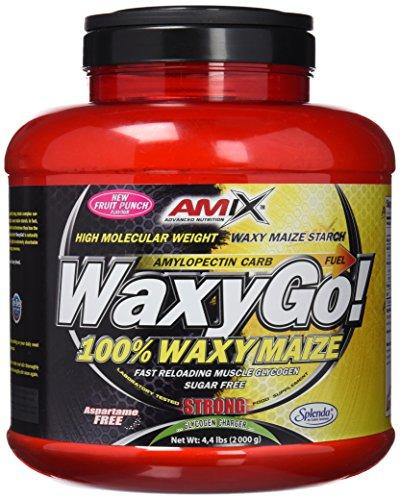 AMIX - Complemento Alimenticio WAXYGO! - Proteína en Polvo para Ganar Masa Muscular - Fórmula con Hidratos de Carbono - Recuperador Muscular - Sabor Frutas del Bosque - Bote de 2kg