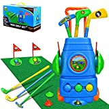TOMYOU Kids Golf Toy Set – Golf Cart with Hitting Mat,...