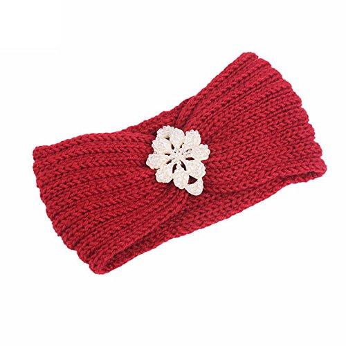 Damen Elastische Blume Gedruckt Stirnbänder Archaistisch Frauen Baumwolle Gestrickte Verdrehte Weiche Turban-Kopf-Verpackungs Ohr Warm