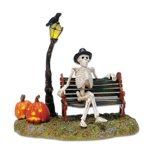 Department 56 Accessories for Village Collections Halloween Resting My Bones Figurine, 4.75 Inch, Multicolor