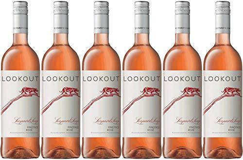 Leopard's Leap Lookout Pinotage Rosé 2019 | Probierpaket mit Roséwein aus Südafrika (6 x 0.75l) | Halbtrocken | Weine für jeden Geschmack von CAPREO