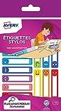 AVERY - Sachet de 30 étiquettes pour stylos, Thème Smileys, Format 50 x 10 mm,