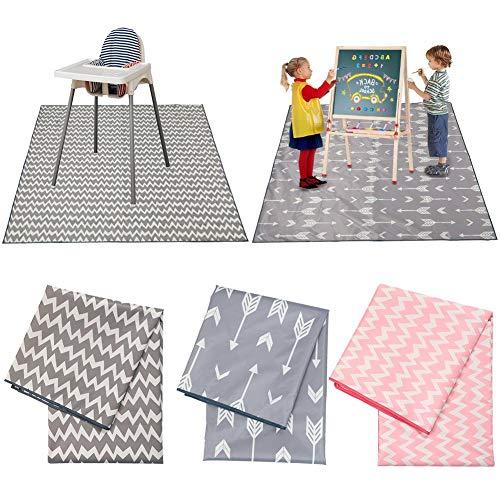 jaspenybow rutschfeste Kindermatten Kindermahlzeitkissen Spielmatten Anti-Dirty Pad Picknickmatten Tischset Wasserdicht Maschinenwaschbar Esszimmerstuhl Kissen Spielmatte