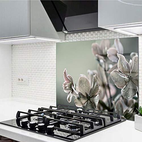 Horno para la cocina protector contra salpicaduras resistente al calor decoración guardia trasera proteger proteccion mural panel rasguño resistir Talla: 60x52cm-No:198